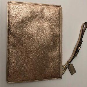 Champagne Glitter/Shimmer Coach wristlet